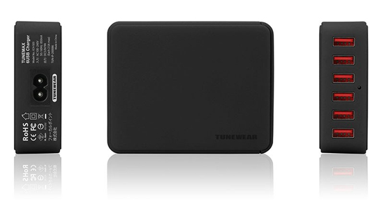 Tunewear Tunemax 6-USB Charger