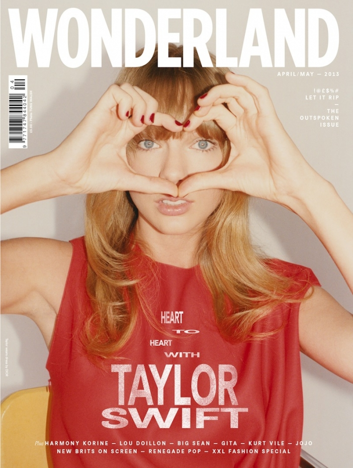 Тейлър Суифт за Wonderland Magazine Outspoken Issue, пролет 2013