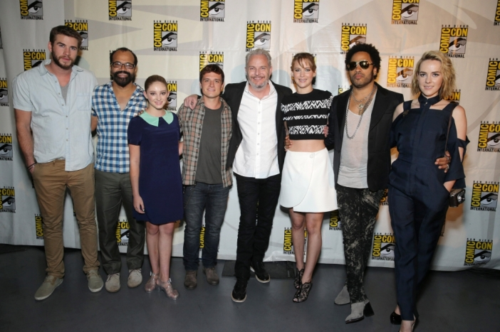 Актьорите от The Hunger Games; Catching Fire на Comic-Con: San Diego 2013