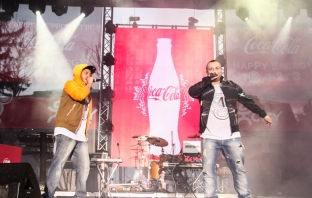Dim4ou и F.O. на Coca-Cola Happy Energy Tour 2013 в София